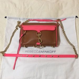 Rebecca Minkoff pink & brown leather crossbody 💕
